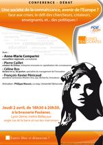 Afficheconfdebat-societedelaconnaissancecomparini_2avril2009